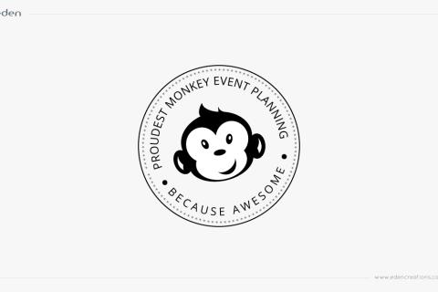 Logo Design: Proudest Monkey Event Planning