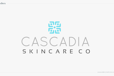 Logo Design: Cascadia Skincare Co.