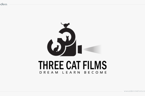 Logo Design: Three Cat Films