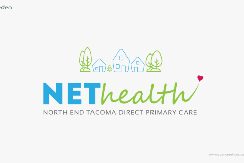 Logo Design: NET Health Primary Direct Care